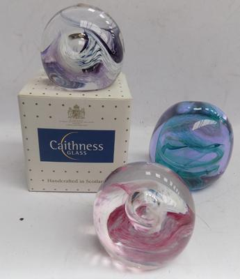 3 boxed Caithness paperweights