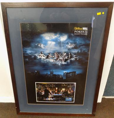 Framed, signed William Hill Poker Grand Prix II, signed by poker players