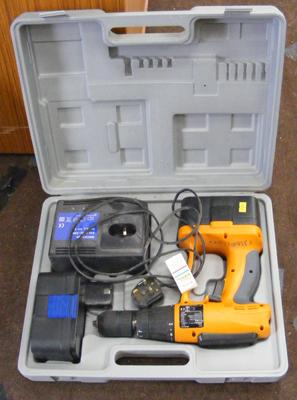 Nutool cased drill with 2 batteries and charger in W/O
