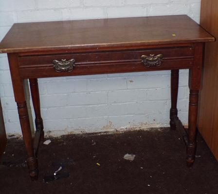 Hall table with single drawer