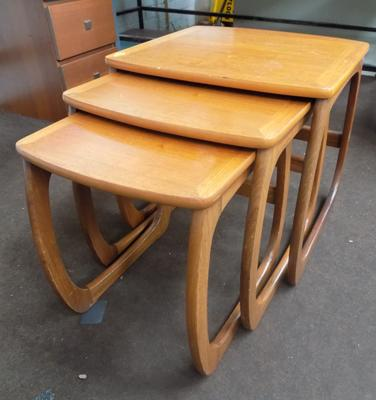 Nest of 3 Parker Knoll tables
