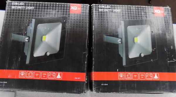 2 new LED security lights with sensors
