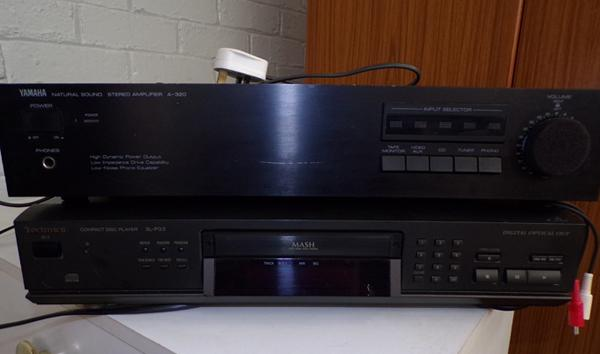Yamaha stereo amp, Technics CD player and separates