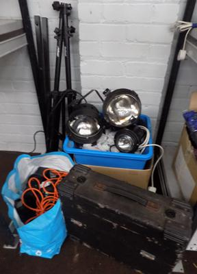 Joblot of Disco lights and accessories