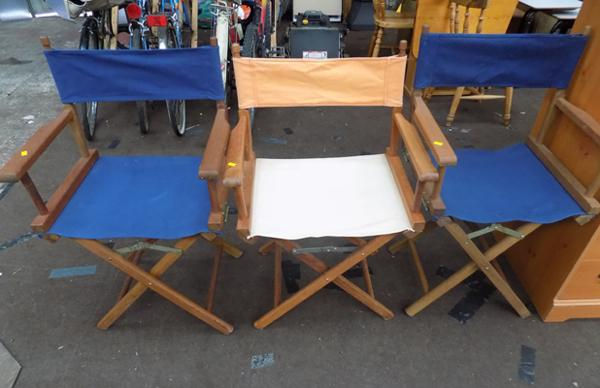 3 x director's chairs