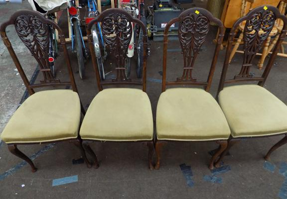 Set of 4 vintage ornate chairs