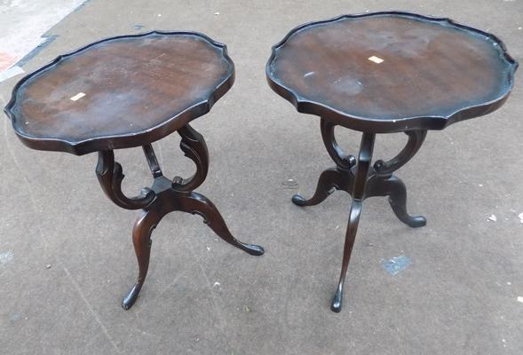 2 x ornate side tables