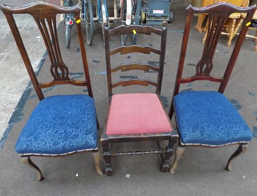 3 x various chairs