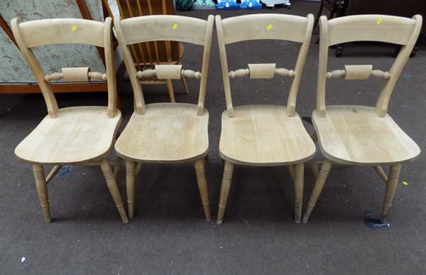 4 x solid pine chairs