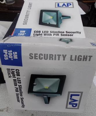 2 new LED slimline security lights with sensors