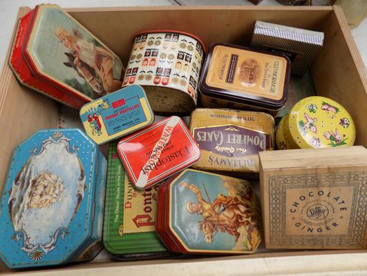 Collection of tins and others
