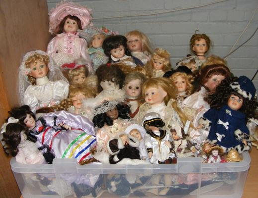 Large collection of dolls