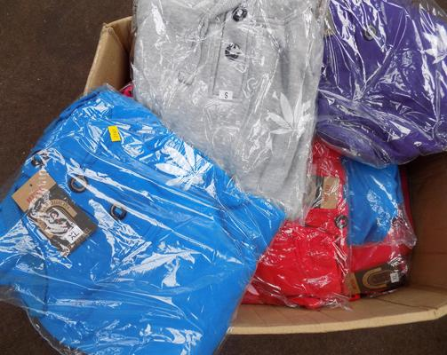 Box of 12 hoodies, various colours & sizes