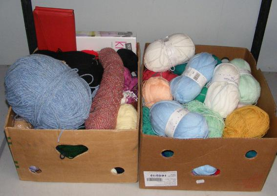 2 x large boxes of wool etc...