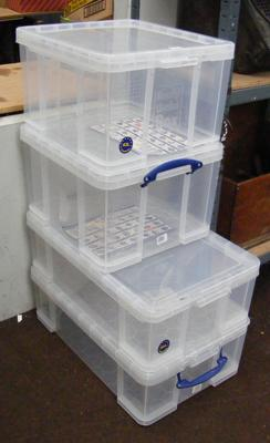 4 really useful storage boxes