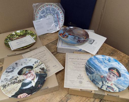 Selection of boxed collectable plates, incl. Coalport, Royal Doulton