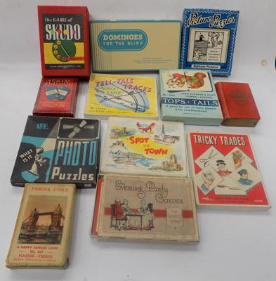 Collection of vintage card games
