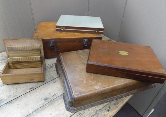 Selection of wooden boxes