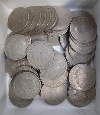 Box of half Crown coins