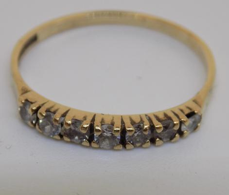 9ct gold half eternity ring - size