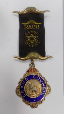 Masonic Lodge silver medal for Grand Council