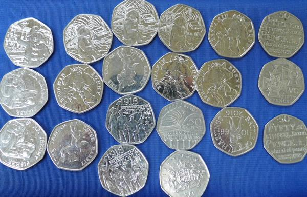 Collection of Paddington and Beatrix Potter 50p's and others