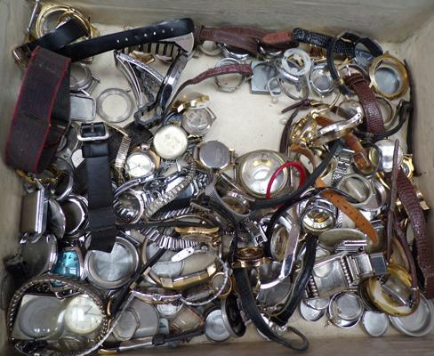 Selection of watch parts, cases & straps