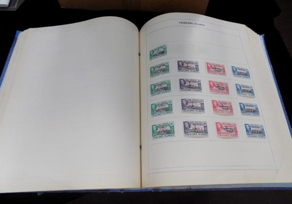 Large binder containing commonwealth stamps etc.