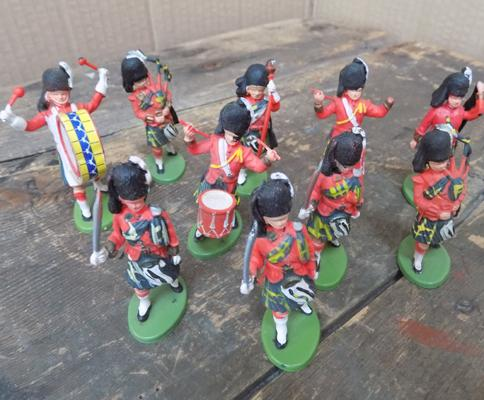 Britain's Scots guards marching band series, set, all stamped on base