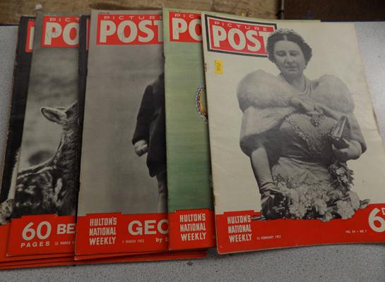 10 Picture Post magazines - 1952