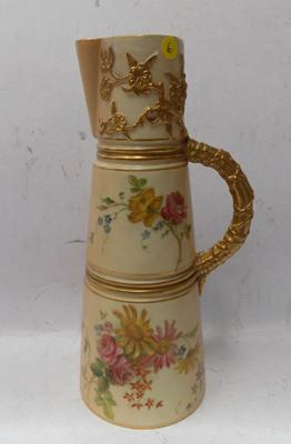 Royal Worcester blush ivory claret jug (Repaired)