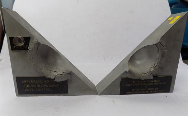 Pair of bookends presented to GM of the engine test and development facility at Rolls Royce ltd.