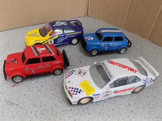 4 vintage Scalextric cars