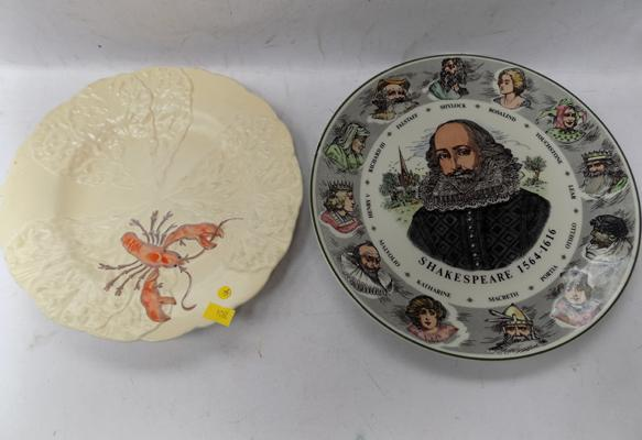 Vintage Carlton ware, lobster luncheon plate & one other (Royal Doulton)