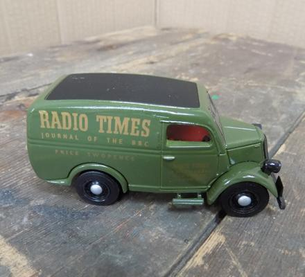 Dinky Ford 1950 10 cut van, Radio Times logo - mint condition