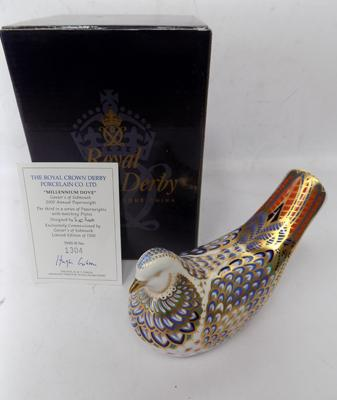 Royal Crown Derby Millennium Dove Limited Edition paperweight, 1304/1500