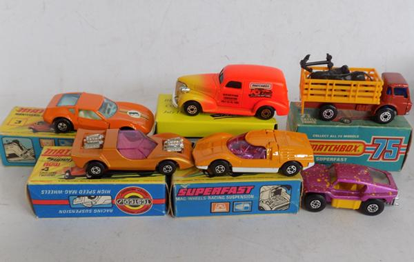 5 boxed lesney superfast and 1 loose beach buggy - 1 limited edition - all mint models
