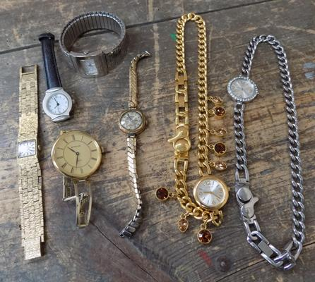 Collection of watches incl. 1950's gold plated, jewel cocktail watches