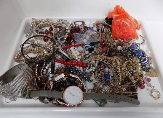 Tray of jewellery incl. 925 silver
