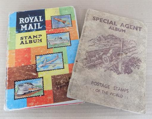 2 stamp albums containing British & World stamps