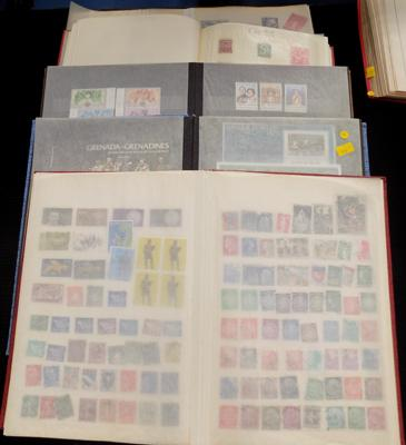 5 albums of stamps, booklets etc.