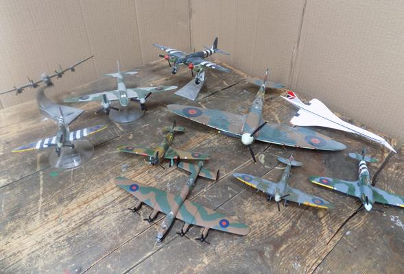 Selection of diecast planes
