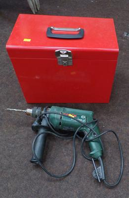 Bosch drill in W/O with metal file/ tool box