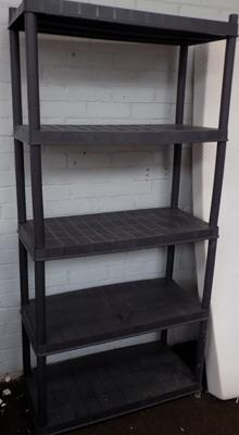 Plastic shelving units - in 2 pieces