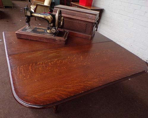 Drop leaf table and Singer sewing machine