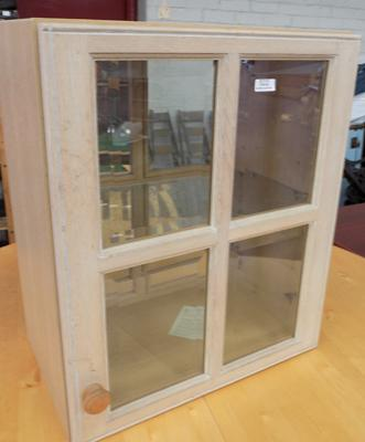 Back and front door display cabinet
