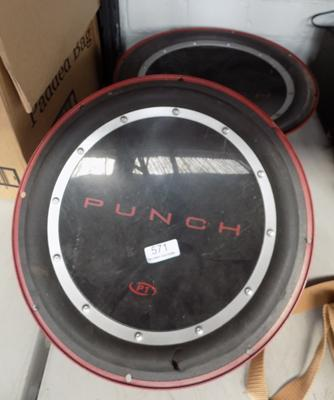 Pair of punch speakers - 8 OHMS