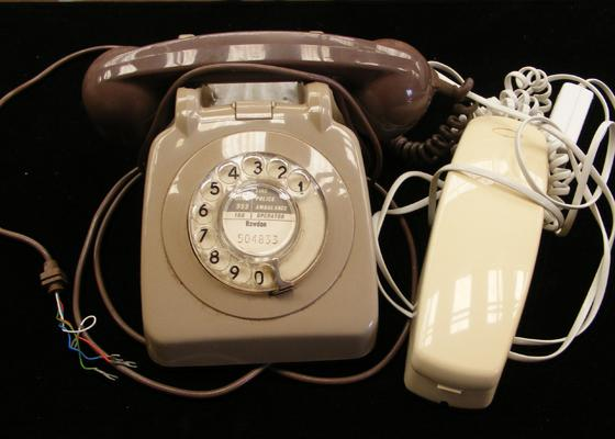 Vintage dial telephone & one other