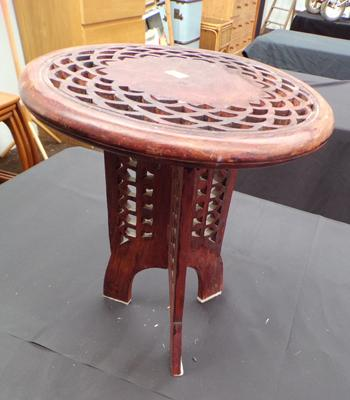 Small Indian carved table