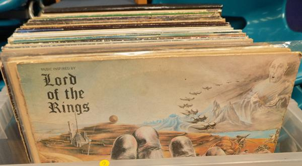 Box of LPs, mixed
